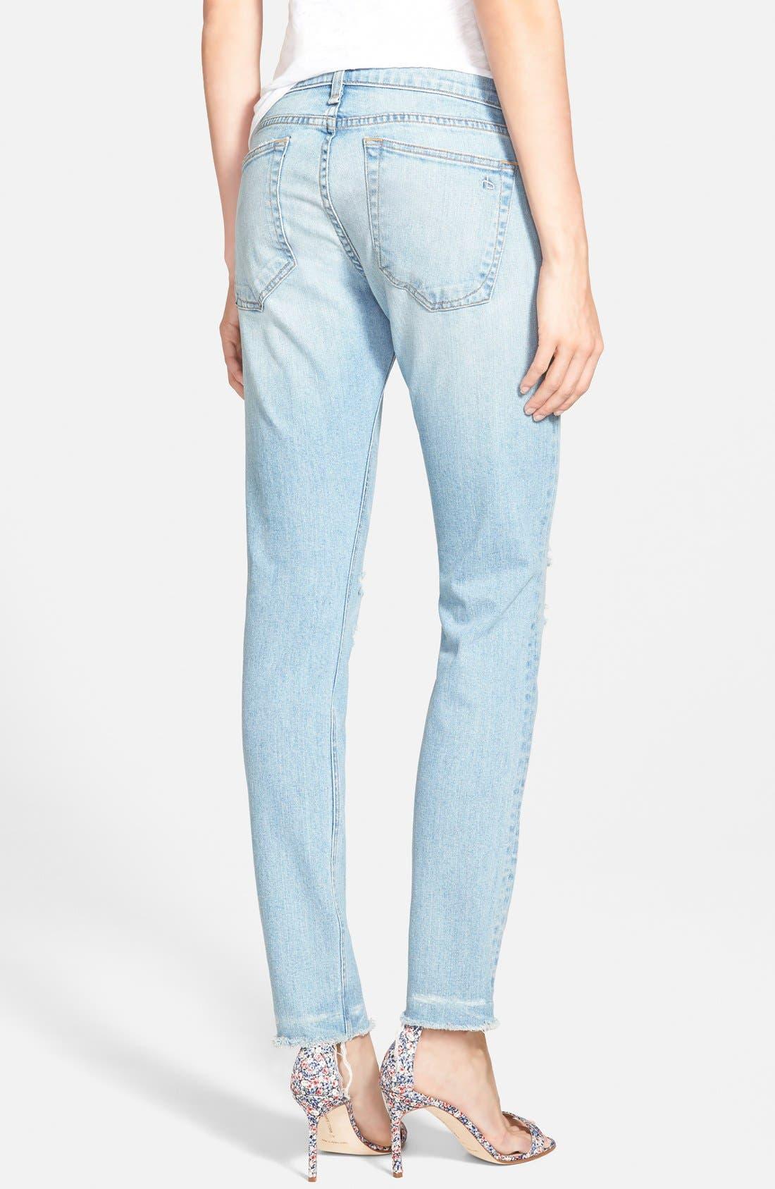 Alternate Image 2  - rag & bone/JEAN 'Dre' Distressed Ankle Jeans (Abingdon)