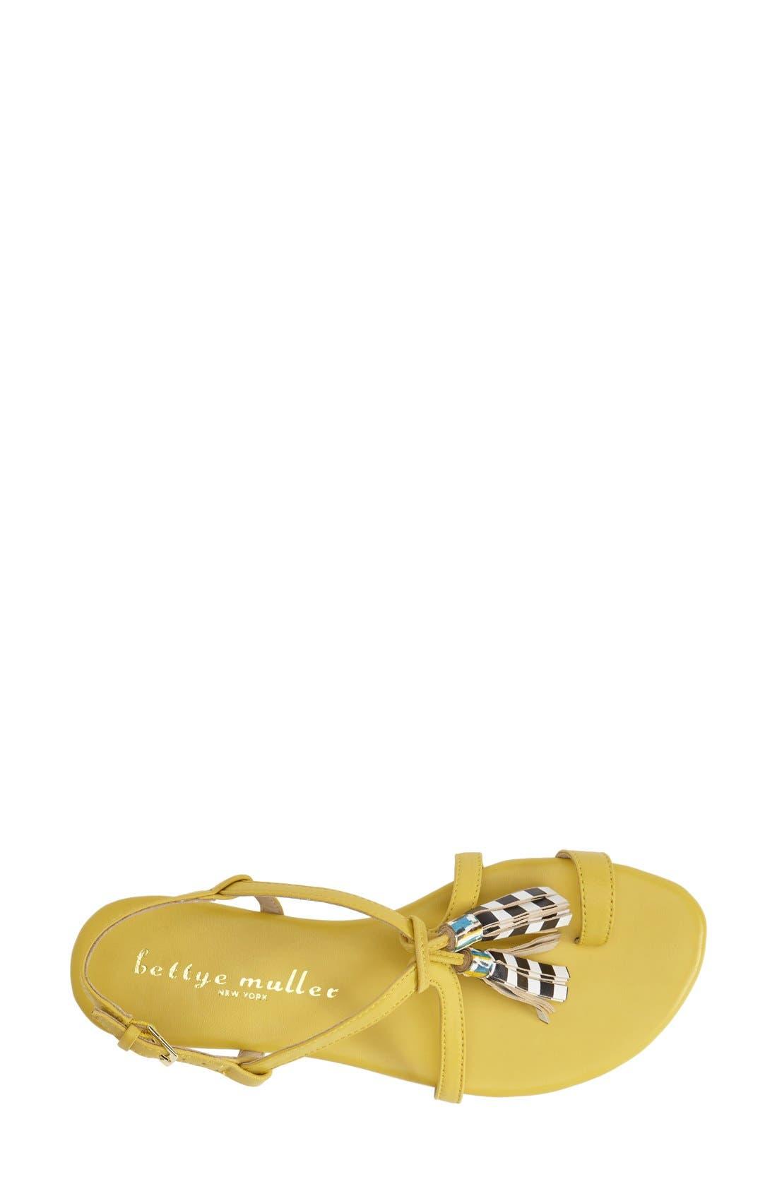 Alternate Image 3  - Bettye Muller 'Sasha' Leather Tassel Sandal (Women)