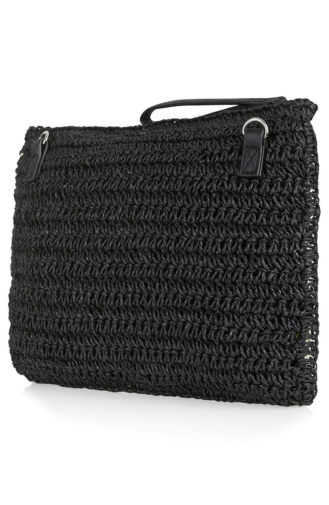Alternate Image 3  - Topshop 'Pineapple' Woven Clutch