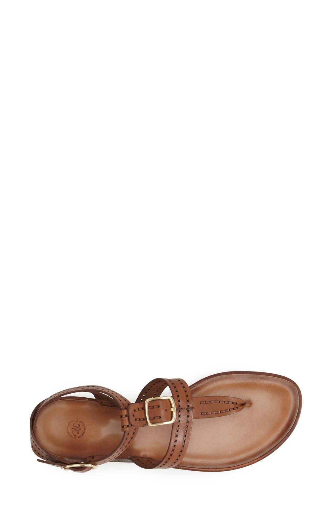 Alternate Image 3  - Johnston & Murphy 'Patti' Perforated Leather Thong Sandal (Women)