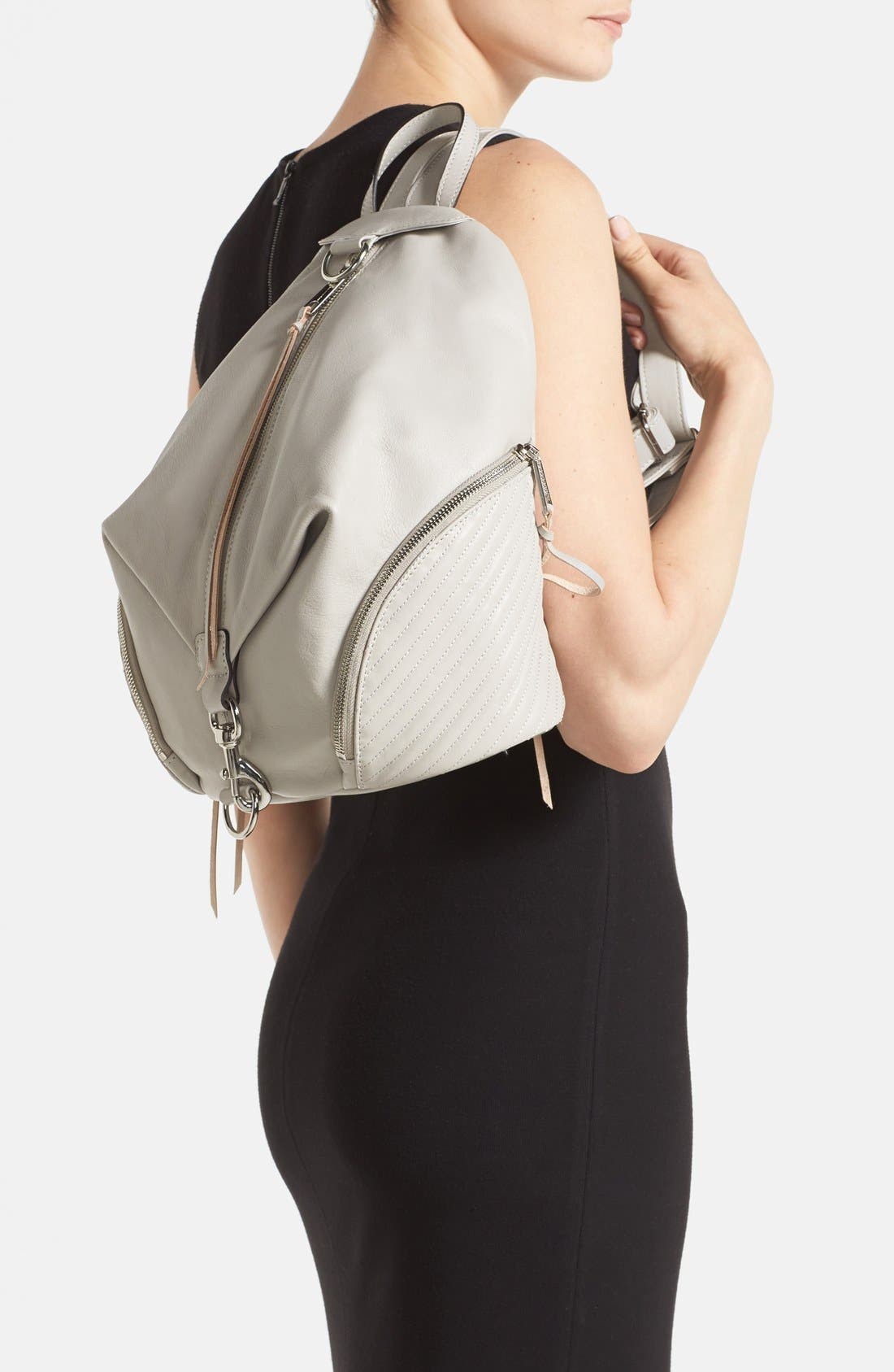 Alternate Image 2  - Rebecca Minkoff 'Line Quilted Julian' Backpack