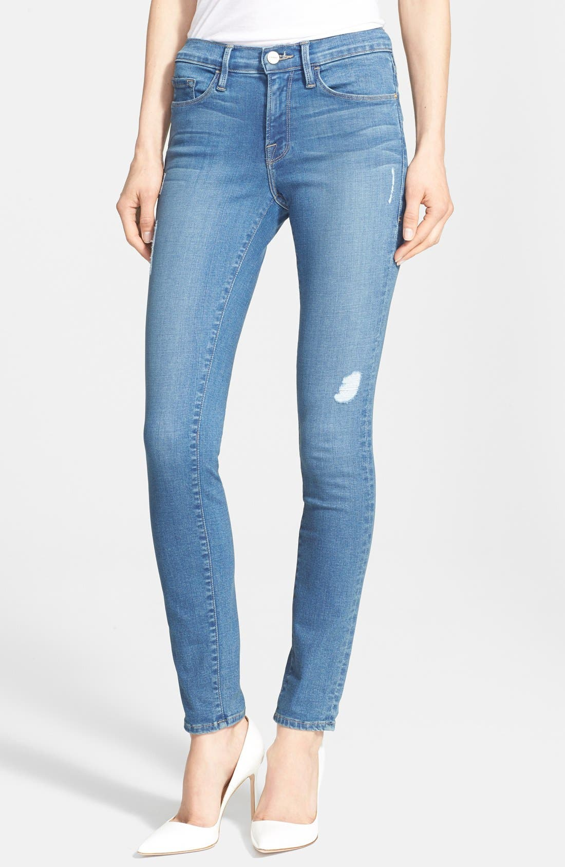 Main Image - Frame Denim 'Le Skinny de Jeanne' Jeans (Alverstone) (Nordstrom Exclusive)