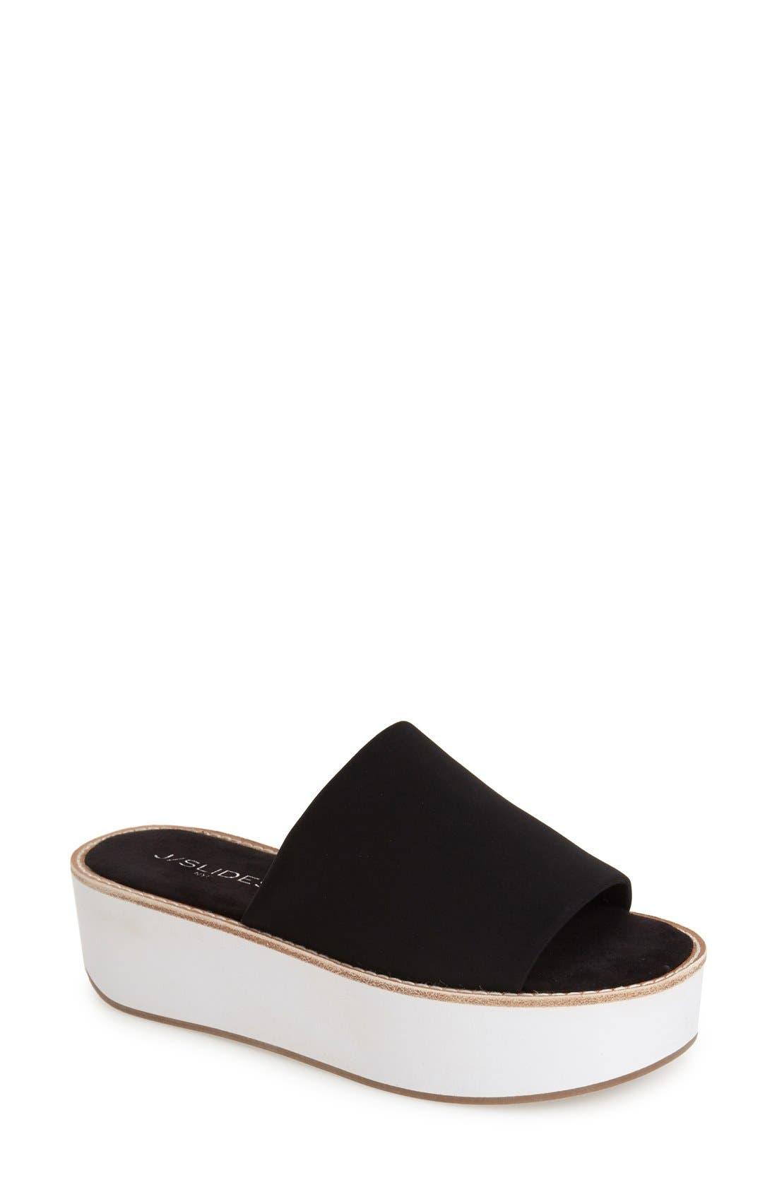 Main Image - JSlides 'Blinky' Flatform Slide Sandal (Women)
