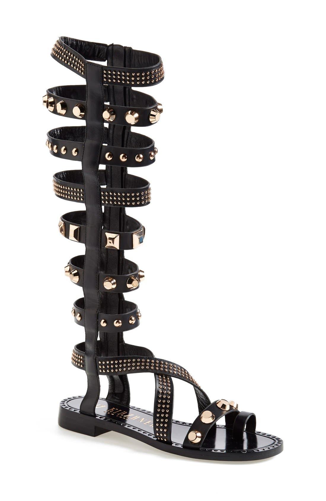 Alternate Image 1 Selected - Ivy Kirzhner 'Triumph' Studded Gladiator Sandal (Women)