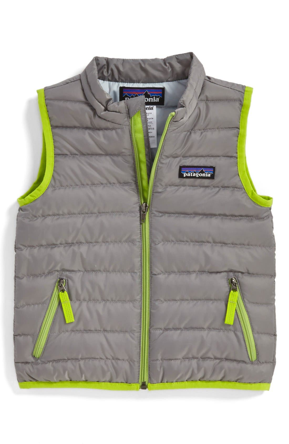 Alternate Image 1 Selected - Patagonia Windproof & Water Resistant Down Sweater Vest (Baby)