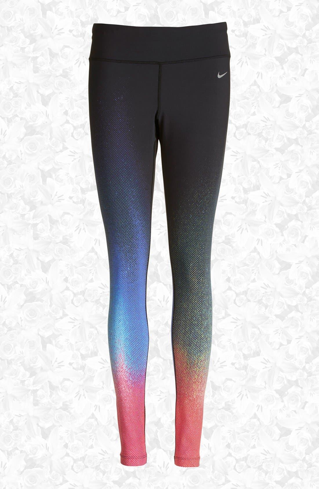 Alternate Image 1 Selected - Nike 'ForeverGradient' Running Tights (Women)