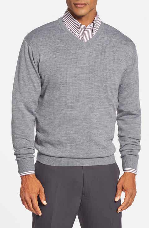 Cutter   Buck 'Douglas' Merino Wool Blend V-Neck Sweater (Online Only)