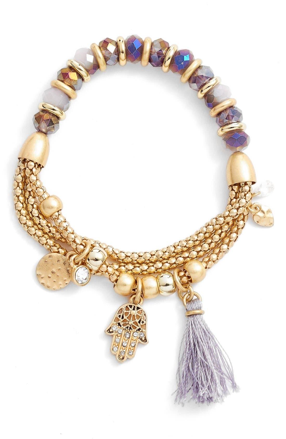 Alternate Image 1 Selected - Lonna & Lilly Beaded Stretch Bracelet