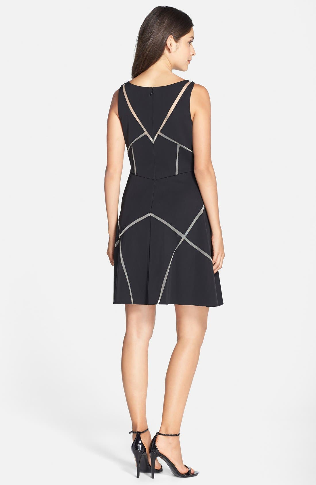 Alternate Image 2  - Aidan Mattox Cutout Satin Fit & Flare Dress