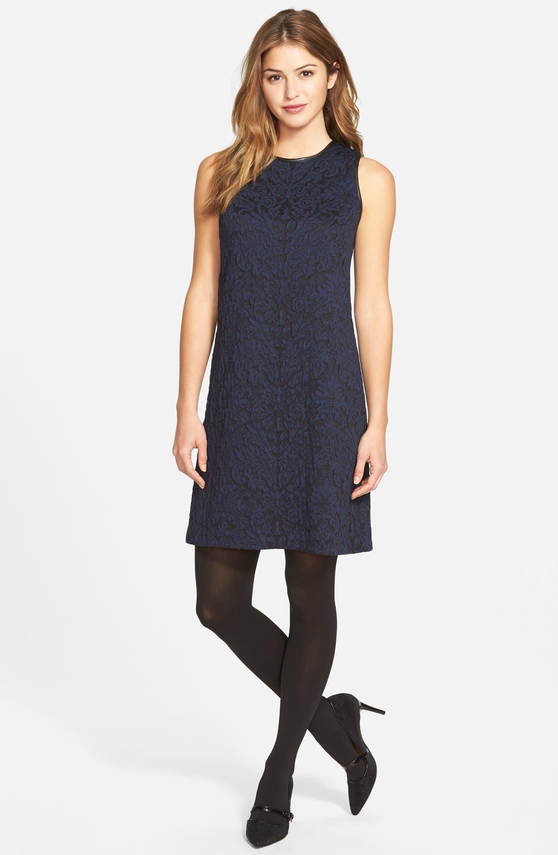 Alternate Image 5  - Vince Camuto Cotton Blend Jacquard A-Line Dress