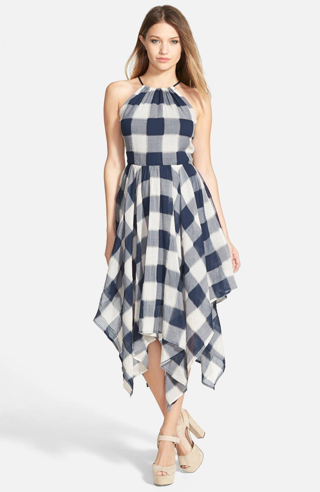 Main Image - Storee Handkerchief Hem Halter Dress