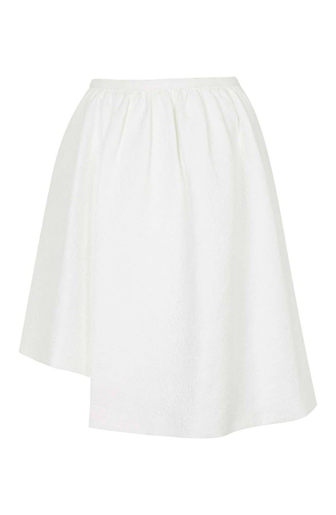 Alternate Image 3  - Topshop Asymmetrical Midi Skirt
