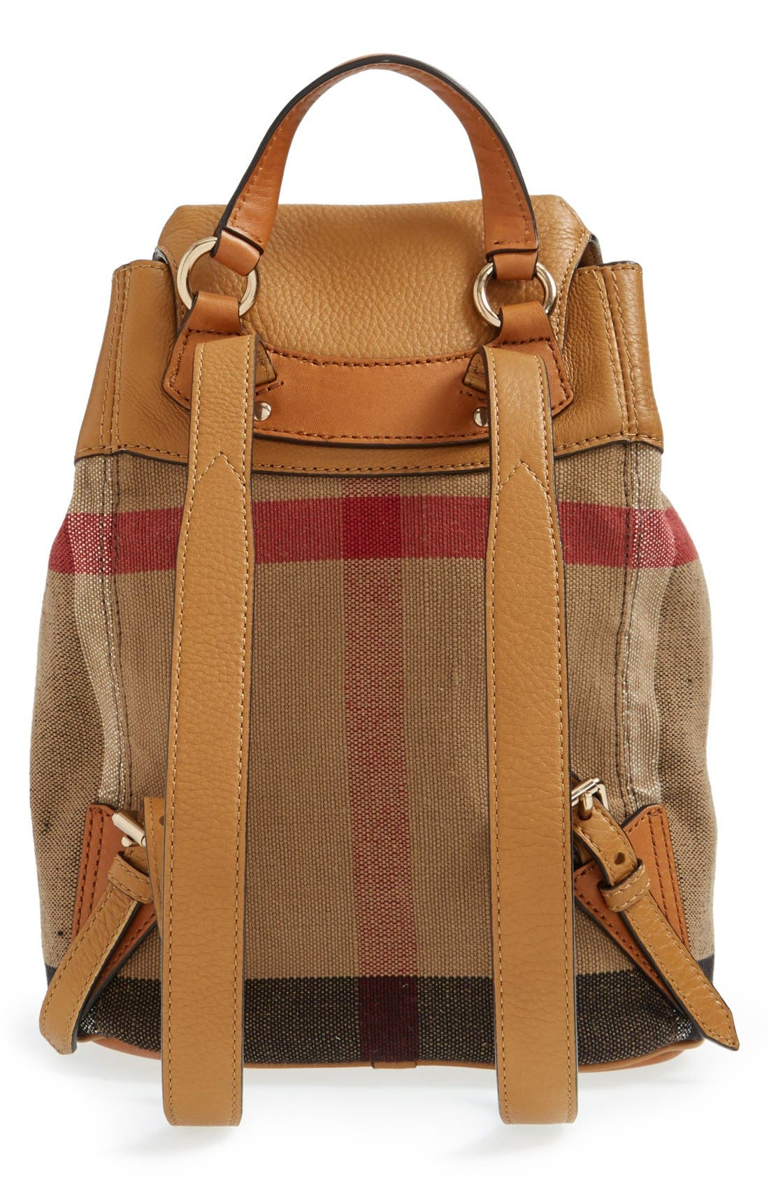 Alternate Image 2  - Burberry Check Print & Leather Mini Backpack (Kids)