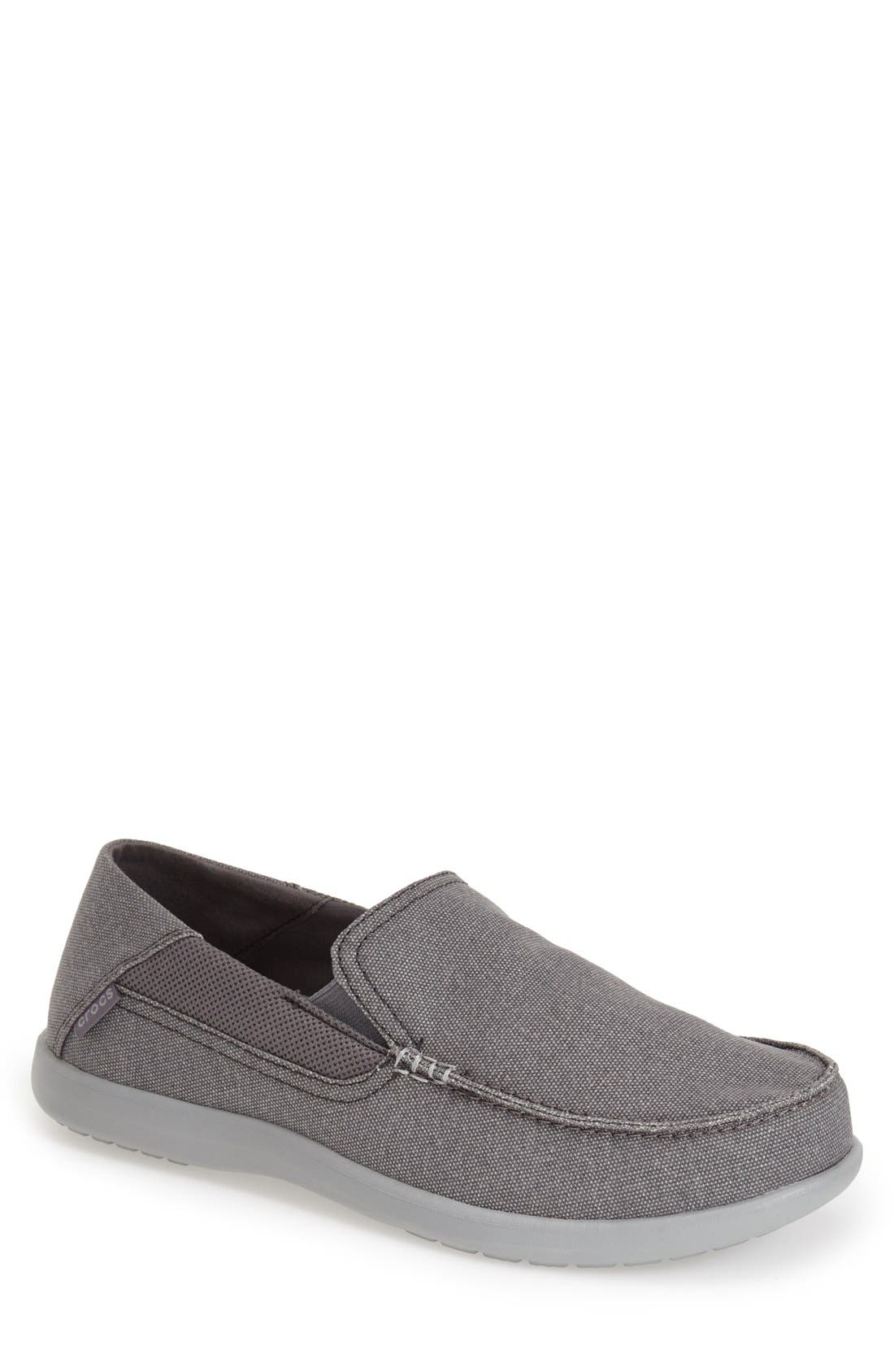 CROCS™ 'Santa Cruz 2 Luxe' Canvas Slip-On Loafer