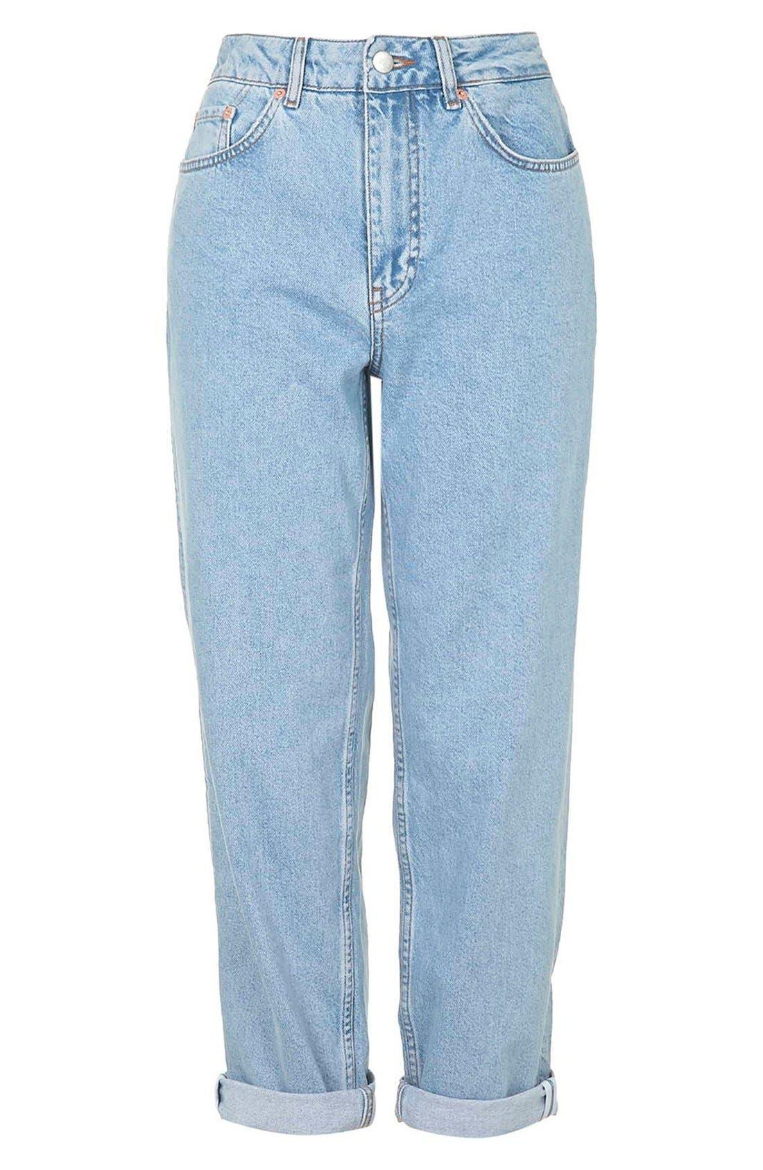 Alternate Image 3  - Topshop Boutique Vintage Boyfriend Jeans (Blue)