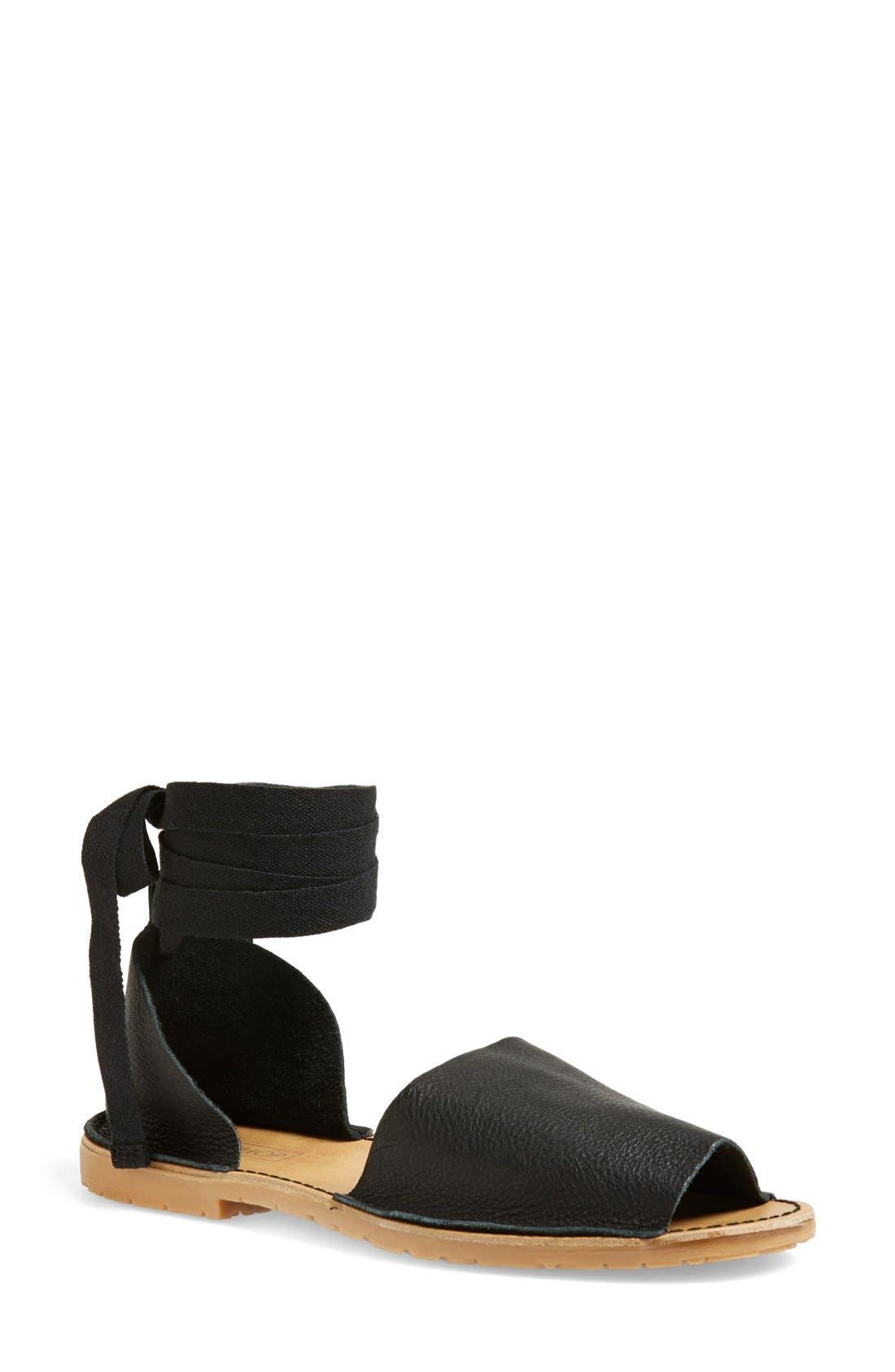 Main Image - Topshop 'Feline' Wraparound Ankle Strap Sandal (Women)