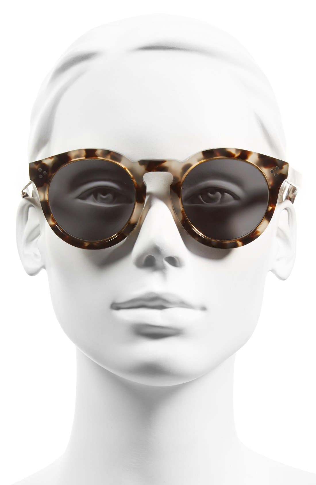 Alternate Image 2  - Illesteva 'Leonard II' 50mm Round Mirrored Sunglasses
