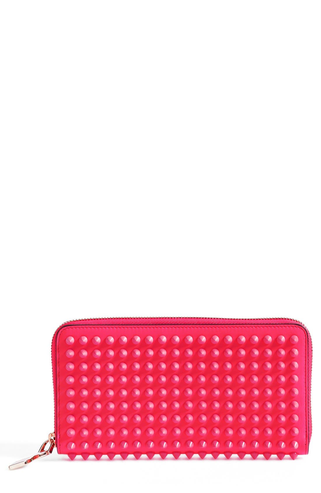 Alternate Image 1 Selected - Christian Louboutin 'Panettone' Spiked Calfskin Wallet