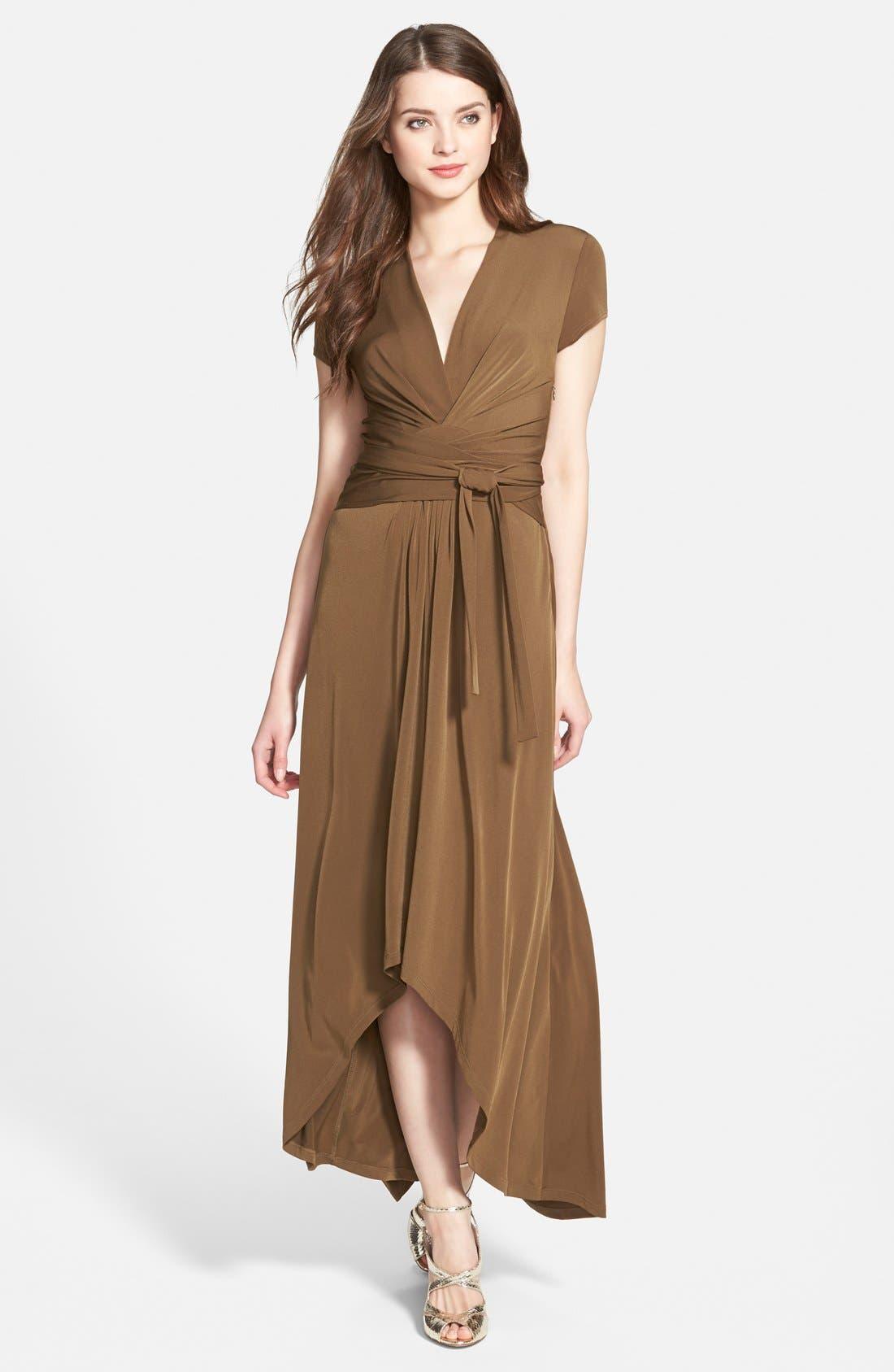 Alternate Image 1 Selected - MICHAEL Michael Kors Faux Wrap Maxi Dress (Regular & Petite)