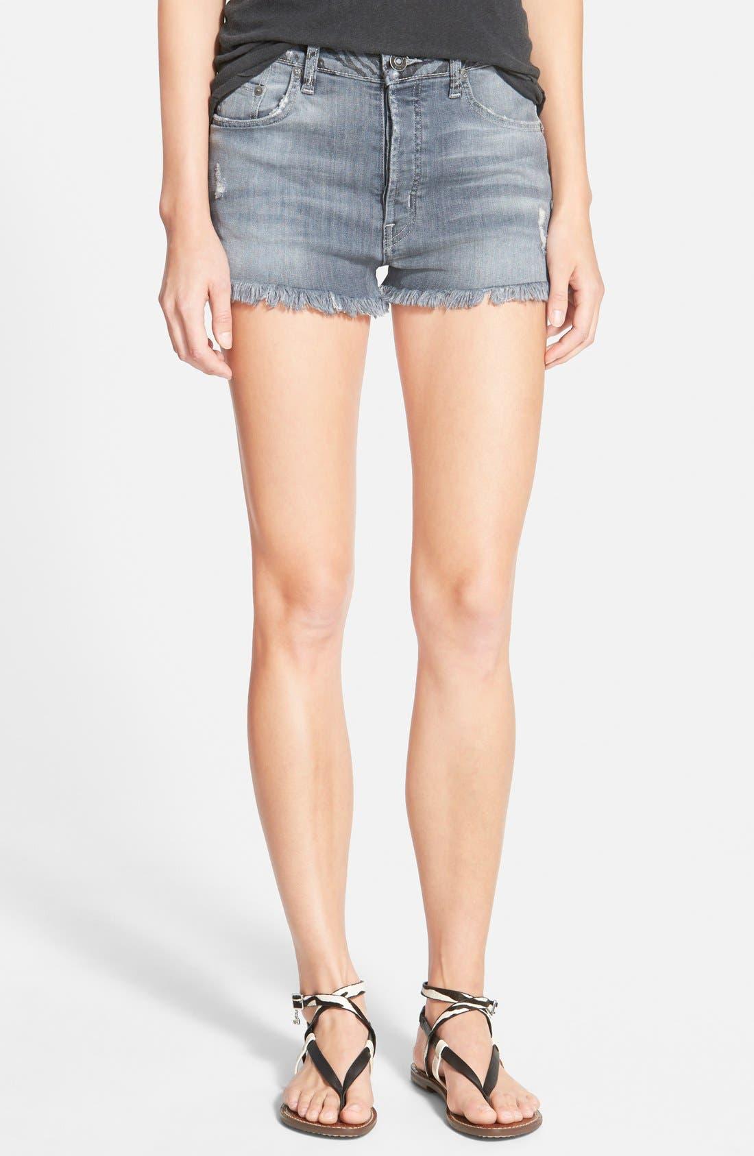 Alternate Image 1 Selected - Hudson Jeans 'Tori Vice Versa' Cutoff Denim Shorts (Twin Coast)