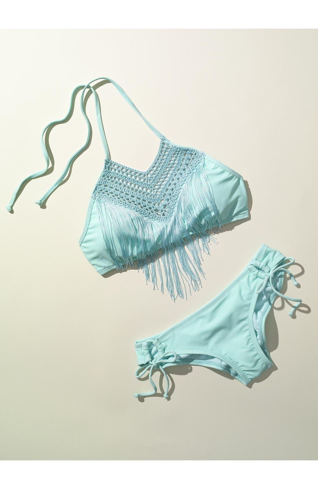 Alternate Image 6  - The Bikini Lab Crochet Neck Bikini Top with Fringe