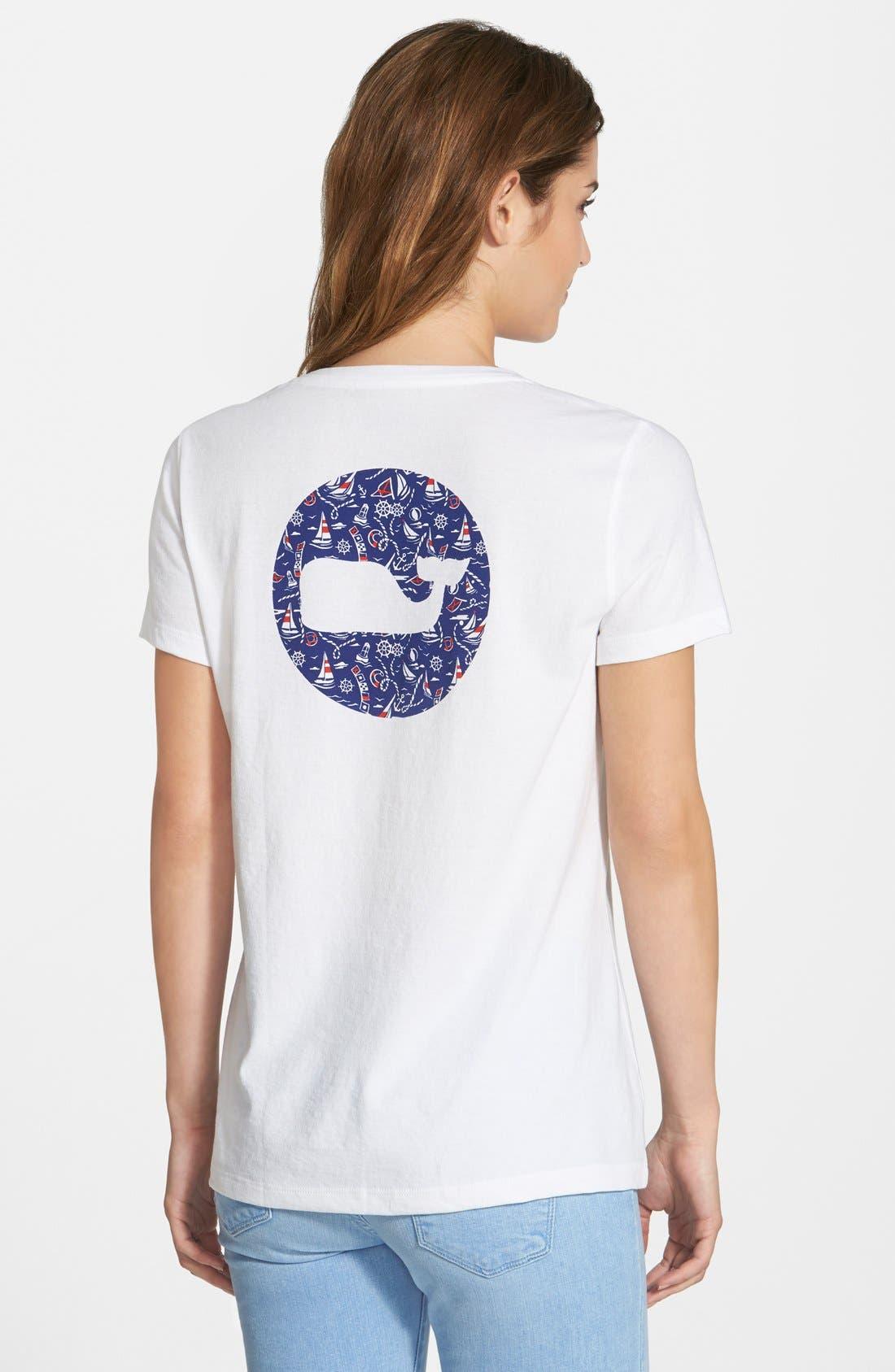 Alternate Image 2  - Vineyard Vines 'Nautical Whale Dot' Crewneck Tee