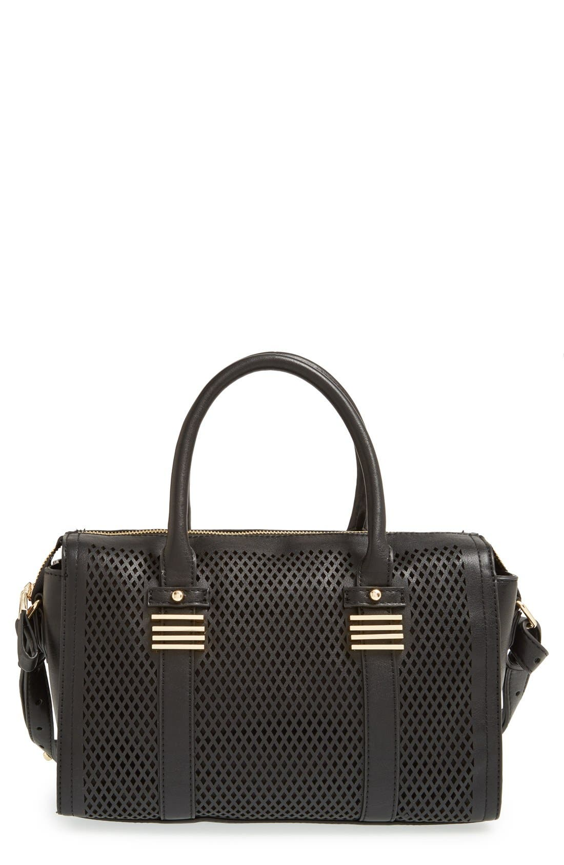 Main Image - Big Buddha Perforated Faux Leather Satchel