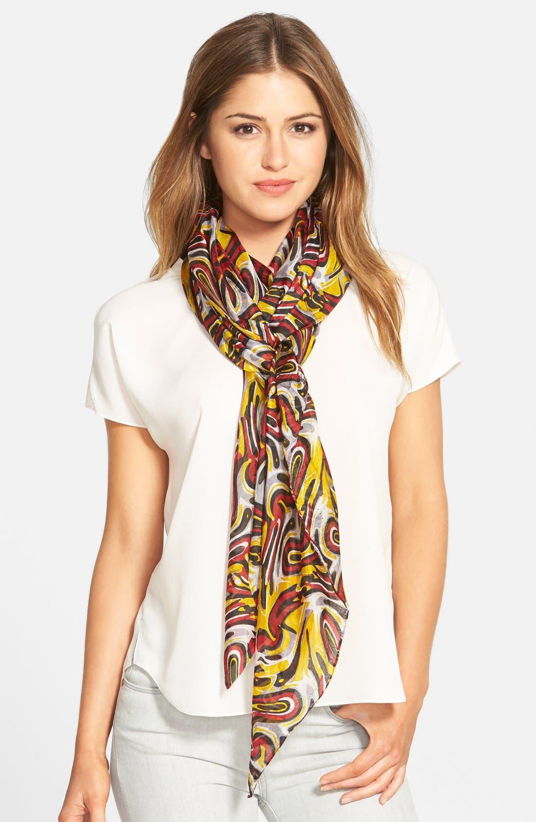 Main Image - La Fiorentina Swirl Pattern Silk Scarf