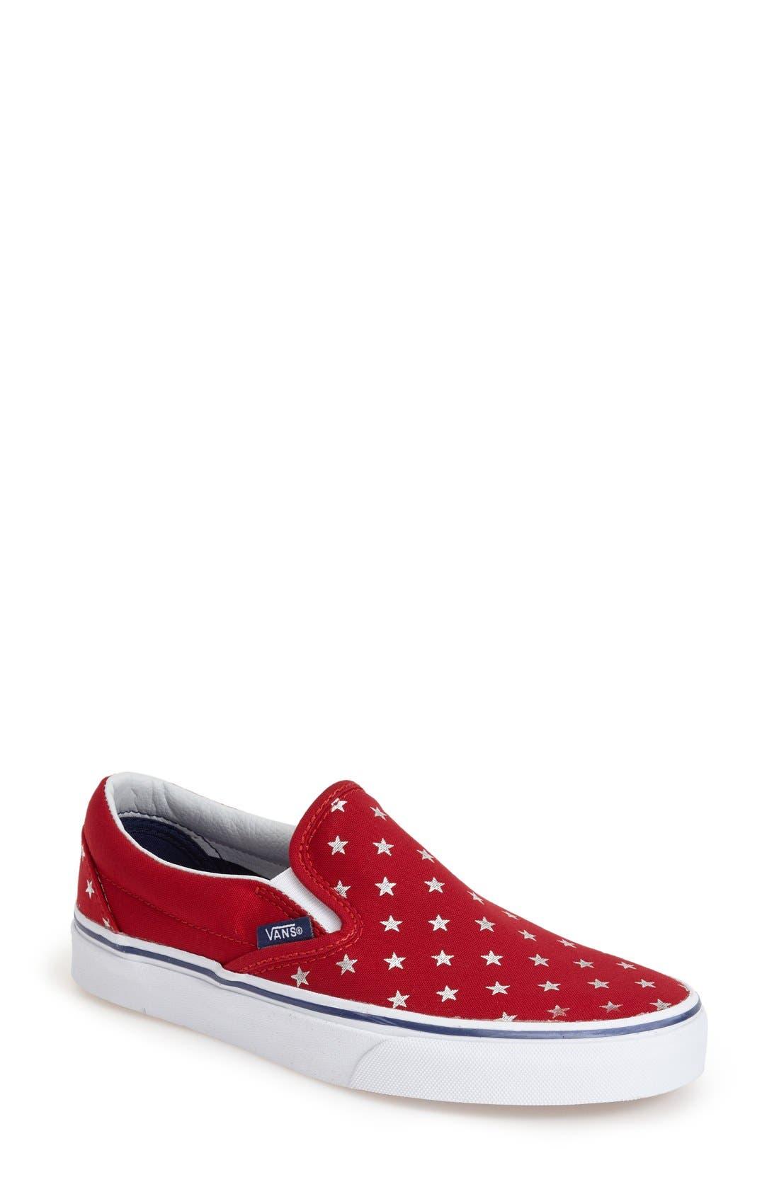 Alternate Image 1 Selected - Vans 'Classic - Stars' Slip-On Sneaker (Women)