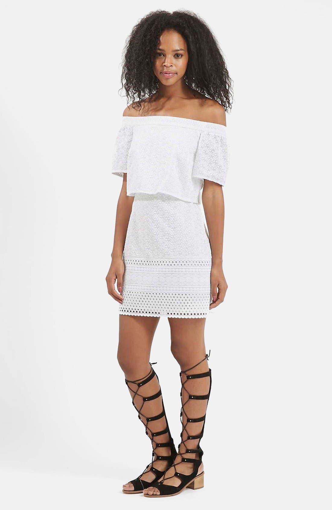 Alternate Image 5  - Topshop Embroidered Off the Shoulder Dress
