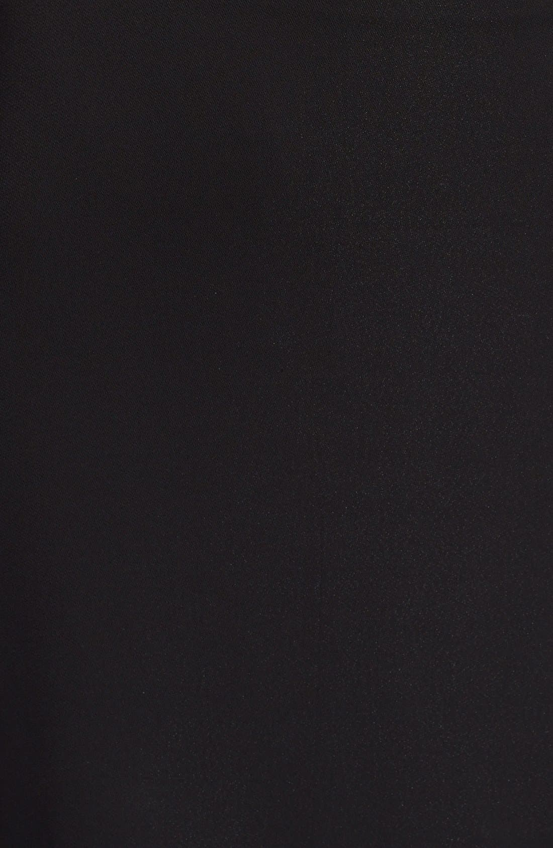 Alternate Image 3  - Nicole Miller Front Slit Stretch Crepe Maxi Skirt