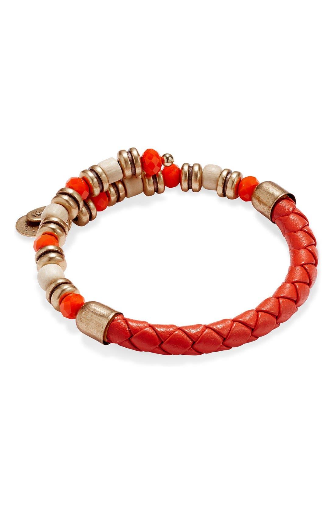 Alternate Image 1 Selected - Alex and Ani 'Sun Blaze Adventuress' Wrap Bracelet