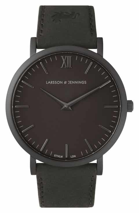 Larsson   Jennings 'Lugano' Leather Strap Watch, 40mm
