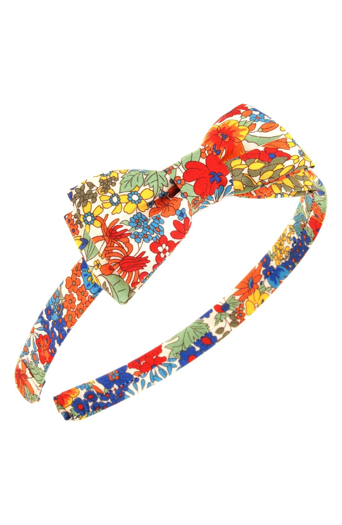 L. Erickson 'Blair' Silk Bow Headband (Girls)