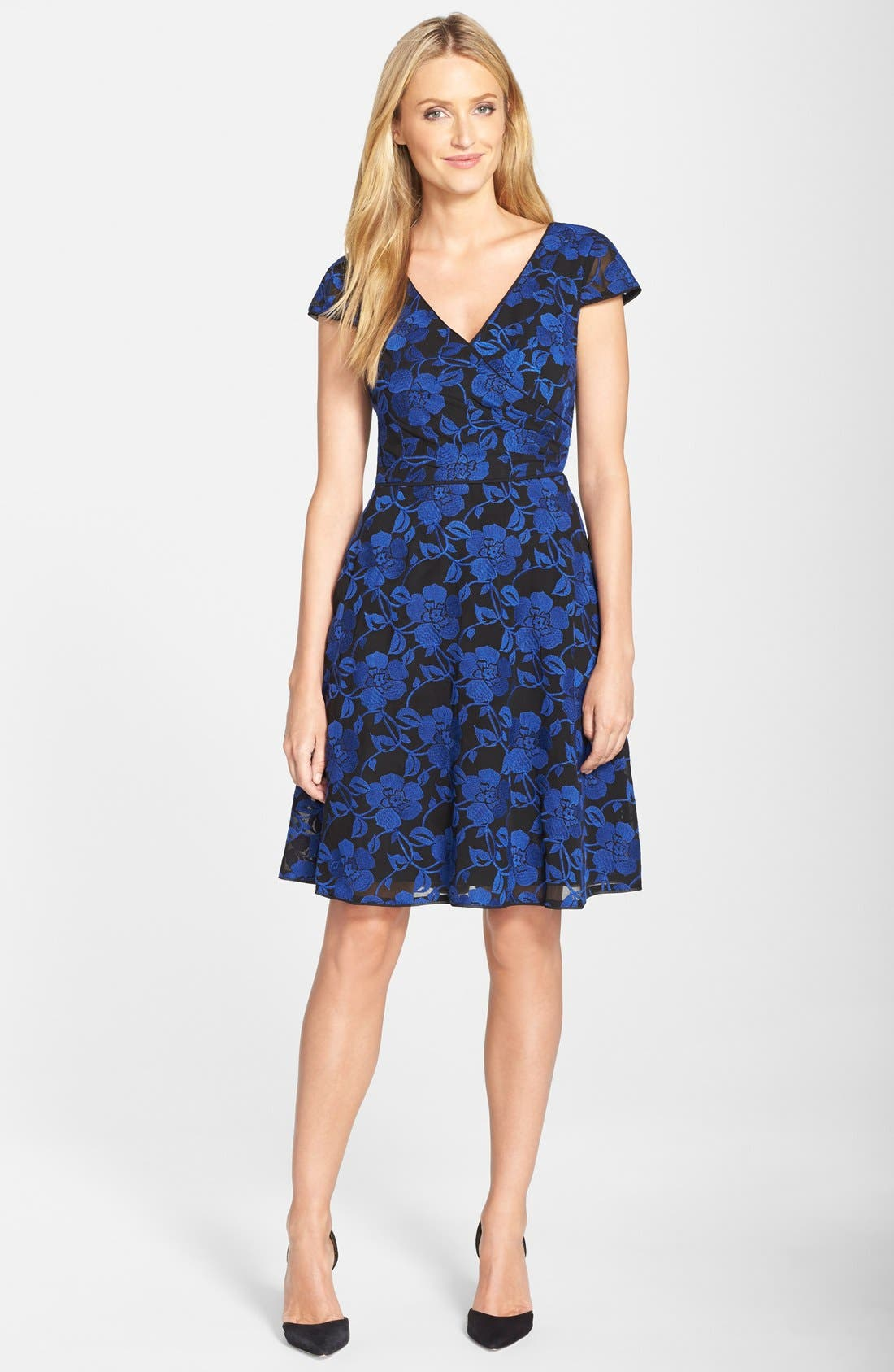 Alternate Image 3  - Adrianna Papell Print Chiffon Fit & Flare Dress