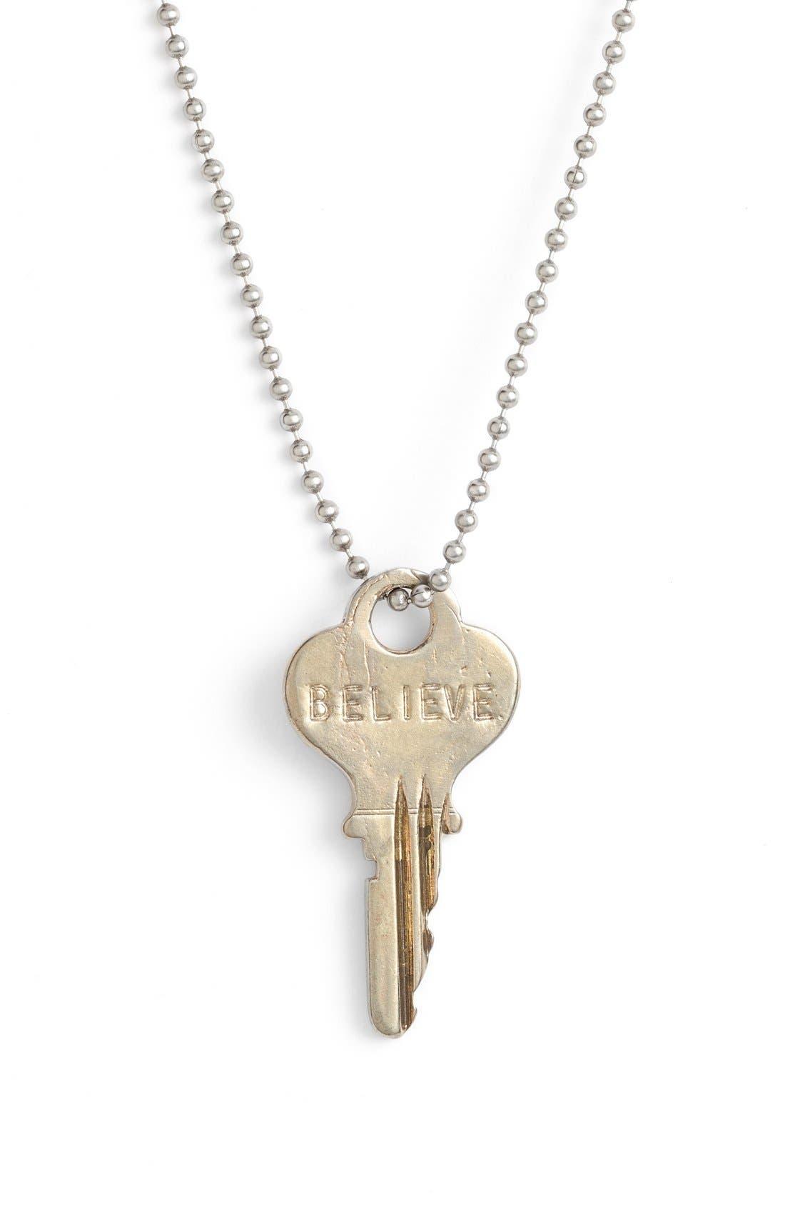 Alternate Image 2  - The Giving Keys 'Love' Copper Chain Key Pendant Necklace