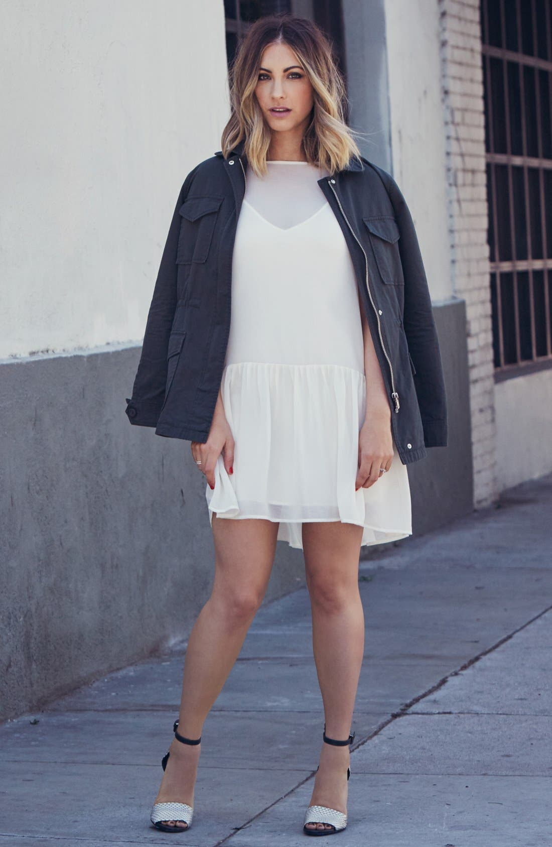 Alternate Image 4  - cupcakes and cashmere 'Presidio' Military Jacket (Nordstrom Exclusive)