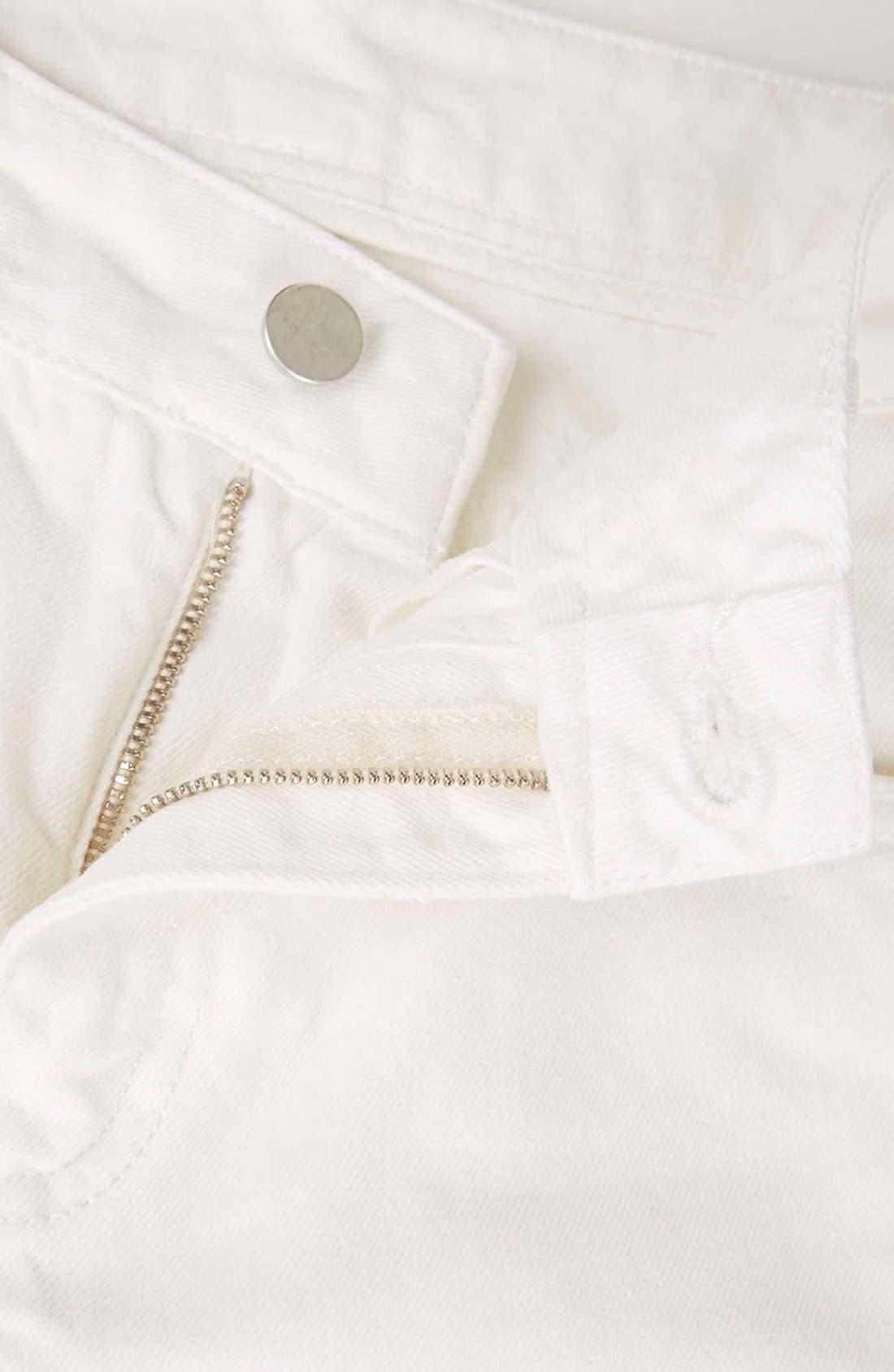 Alternate Image 4  - Topshop Boutique Slim Leg Jeans (Cream)