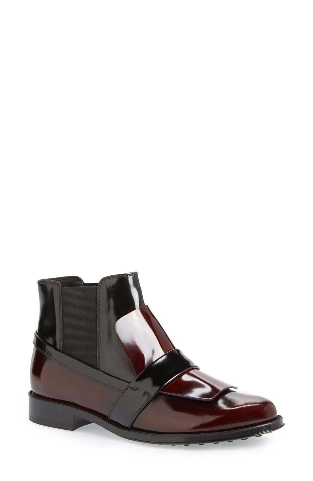Alternate Image 1 Selected - Tod's Mask Chelsea Bootie (Women)