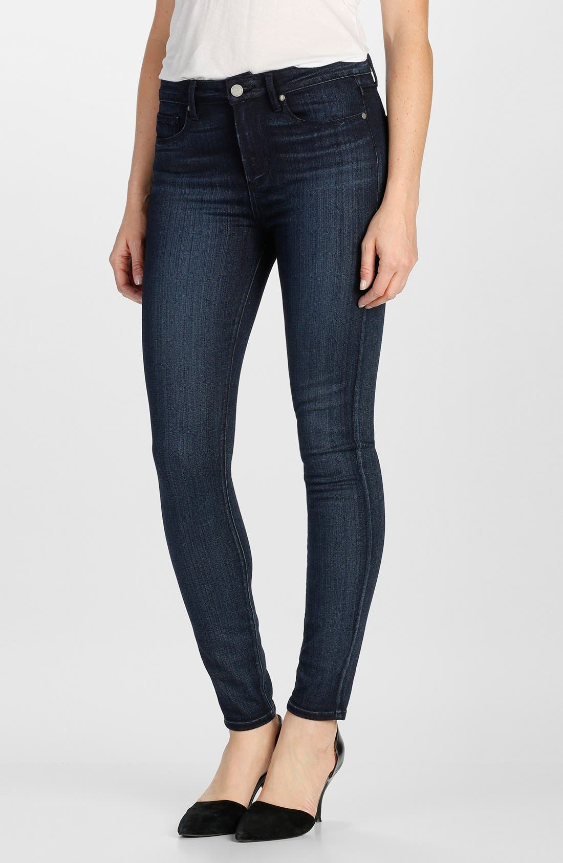 Alternate Image 1 Selected - Paige Denim 'Transcend - Hoxton' High Rise Ultra Skinny Jeans (Georgie)