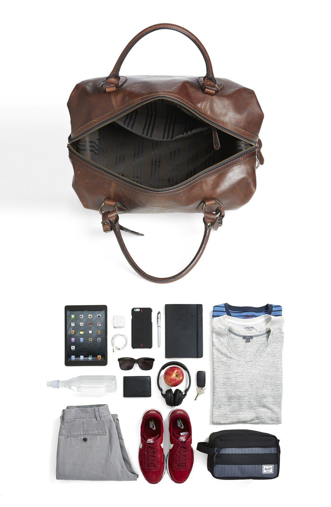 Alternate Image 6  - Frye 'Logan' Leather Overnight Bag (Online Only)