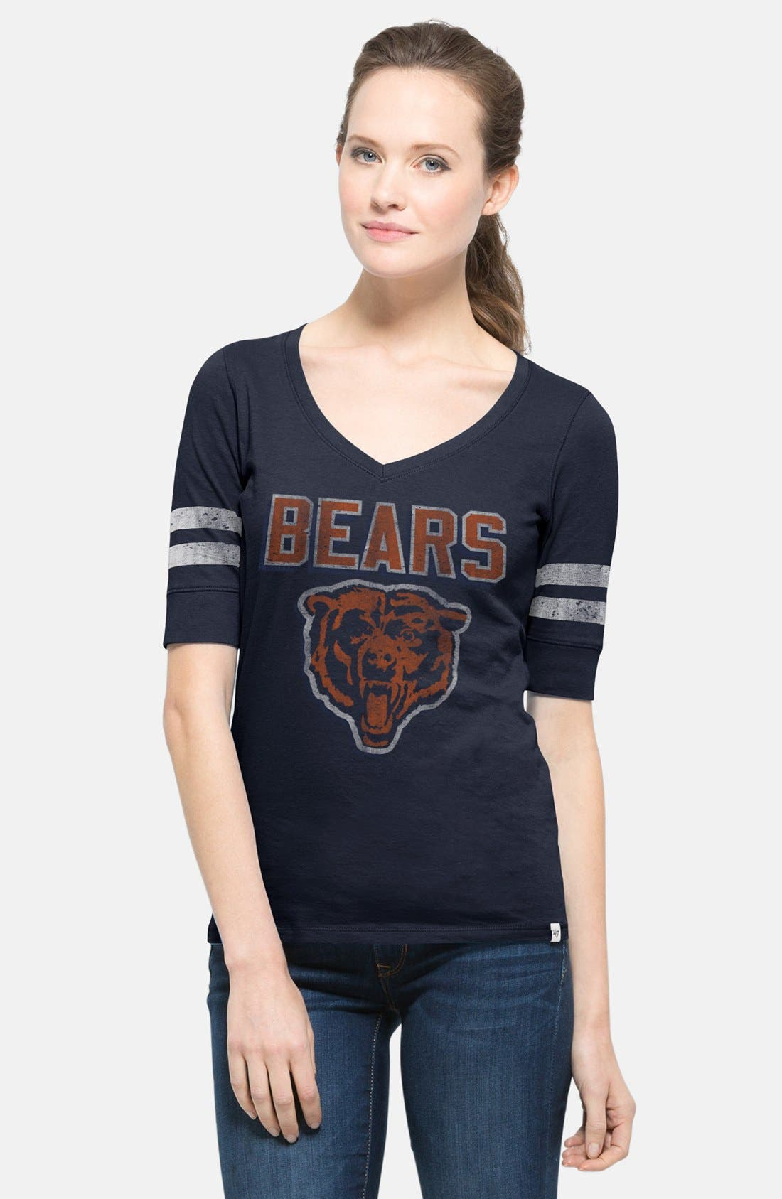 Alternate Image 1 Selected - 47 Brand 'Chicago Bears - Flanker Stripe' Graphic Tee