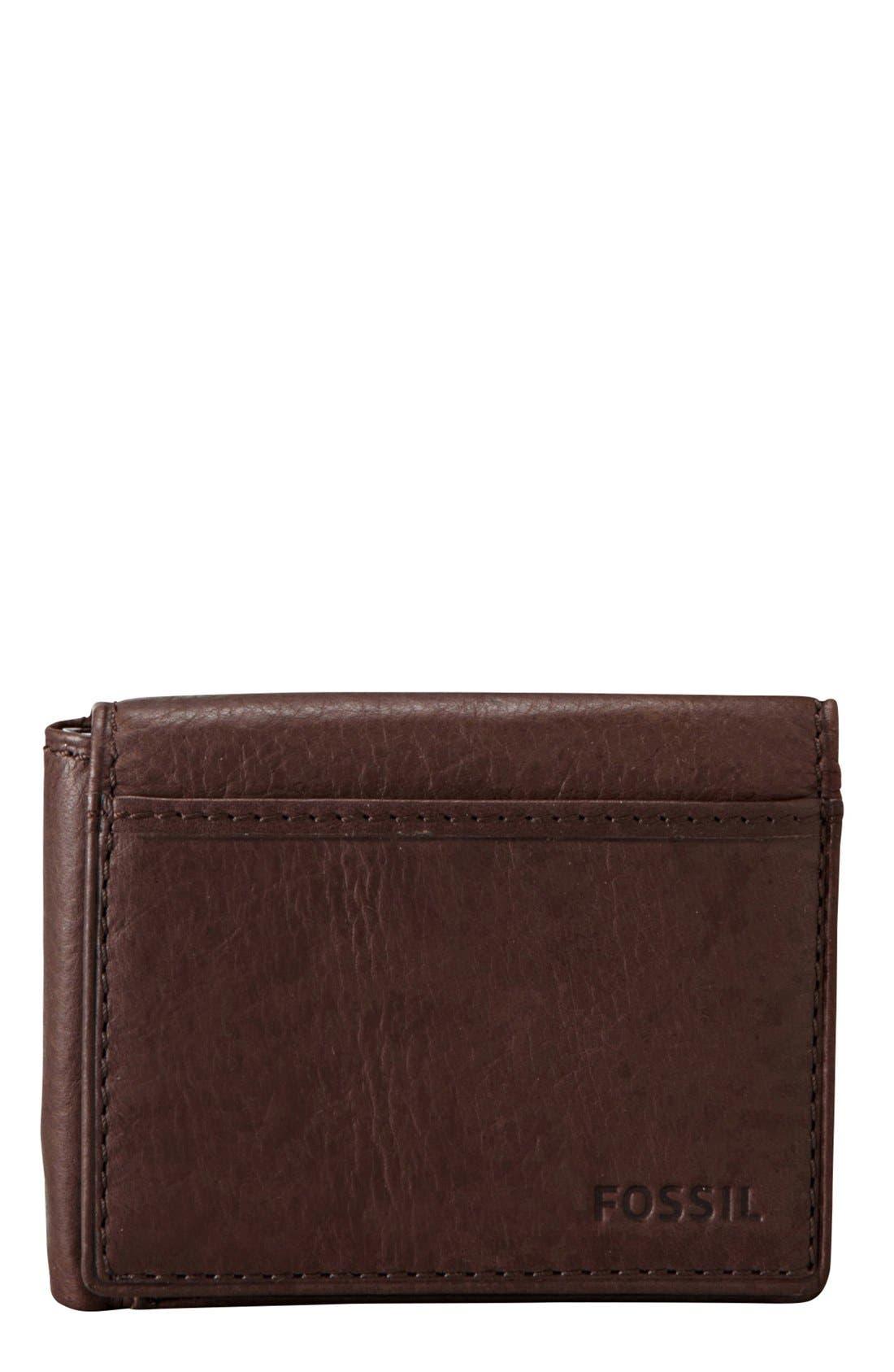 Main Image - Fossil 'Ingram' Leather Flip Trifold Wallet