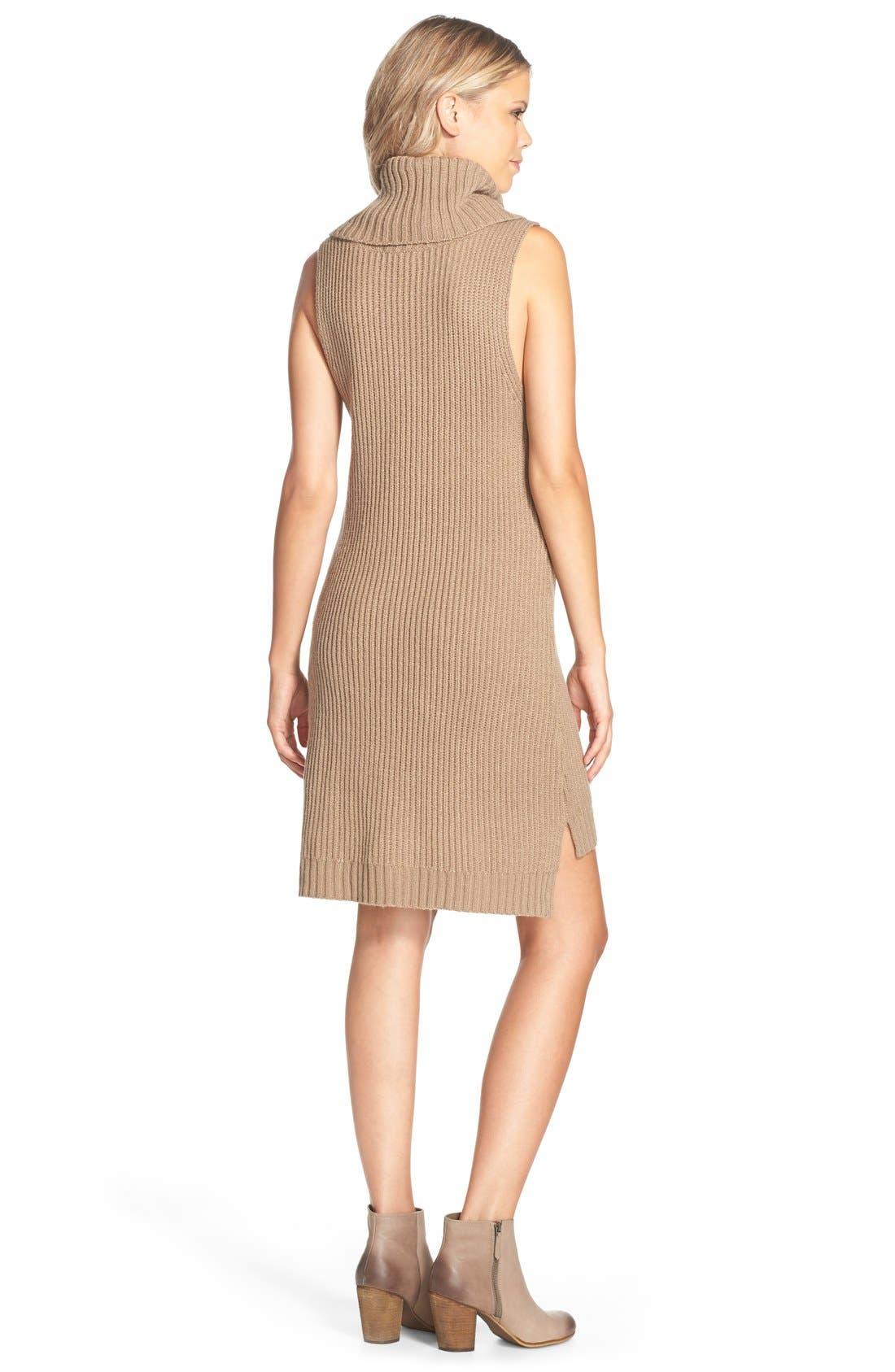 Alternate Image 2  - BB Dakota 'Marisa' Turtleneck Sweater Dress