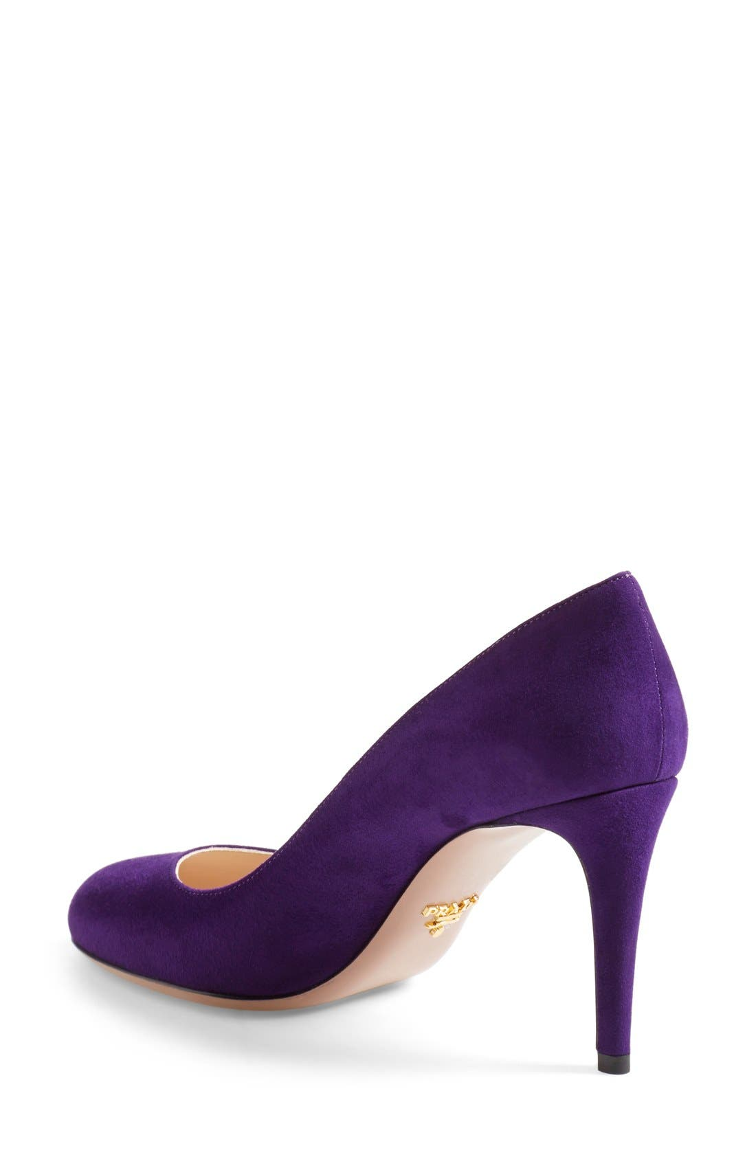 Alternate Image 2  - Prada Almond Toe Pump (Women)