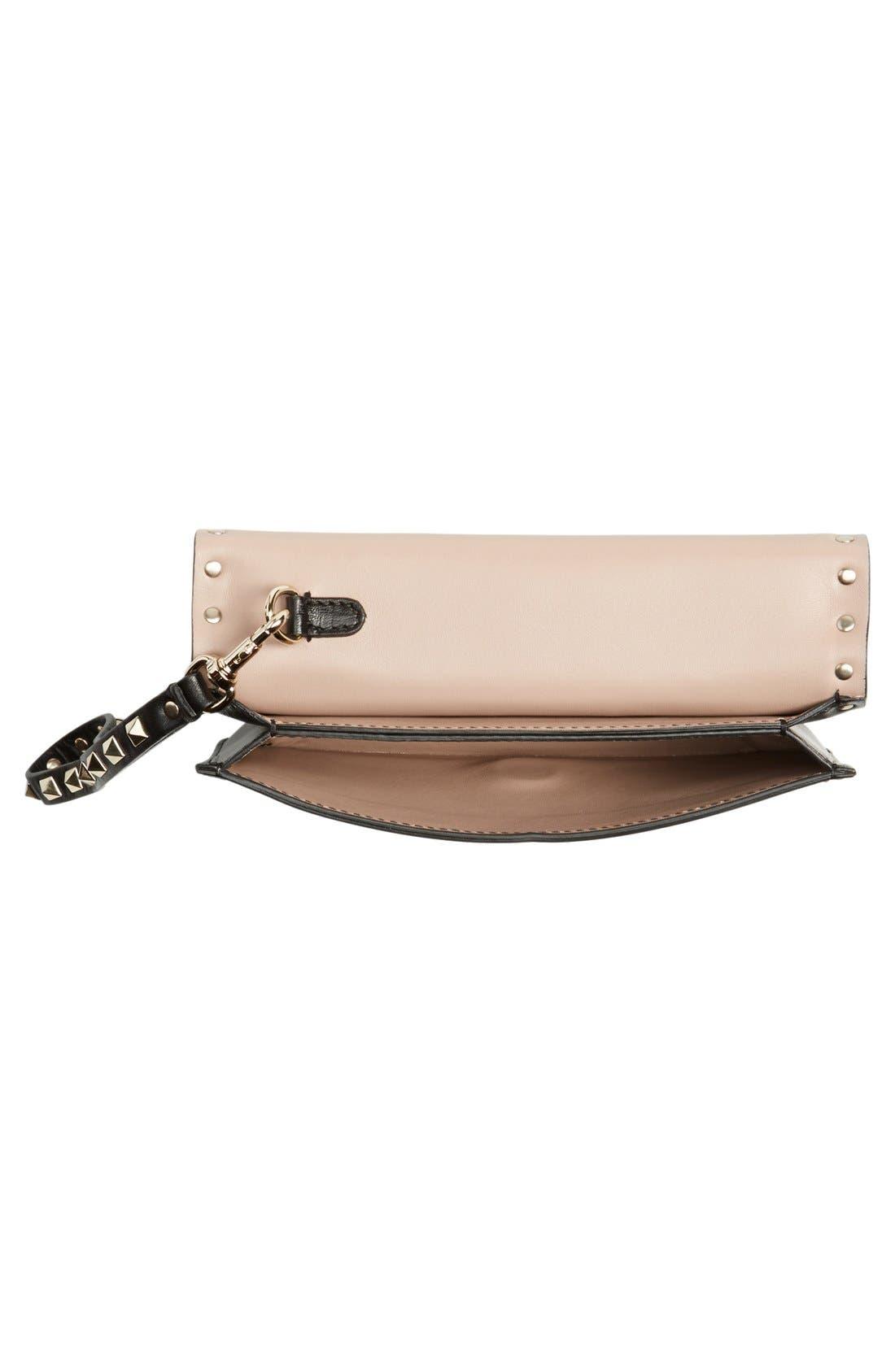 Alternate Image 4  - Valentino 'Small Rockstud' Leather Flap Clutch