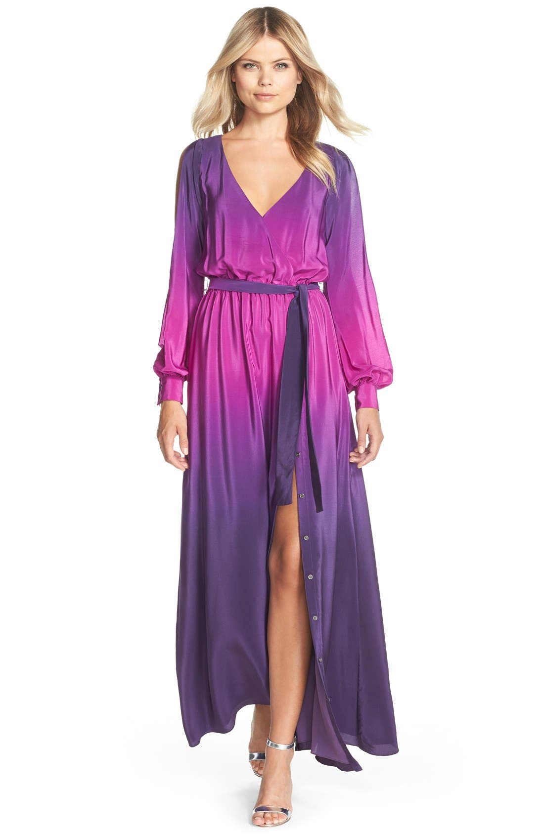 Alternate Image 1 Selected - Jay Godfrey 'Palazzo' Ombré Silk Gown