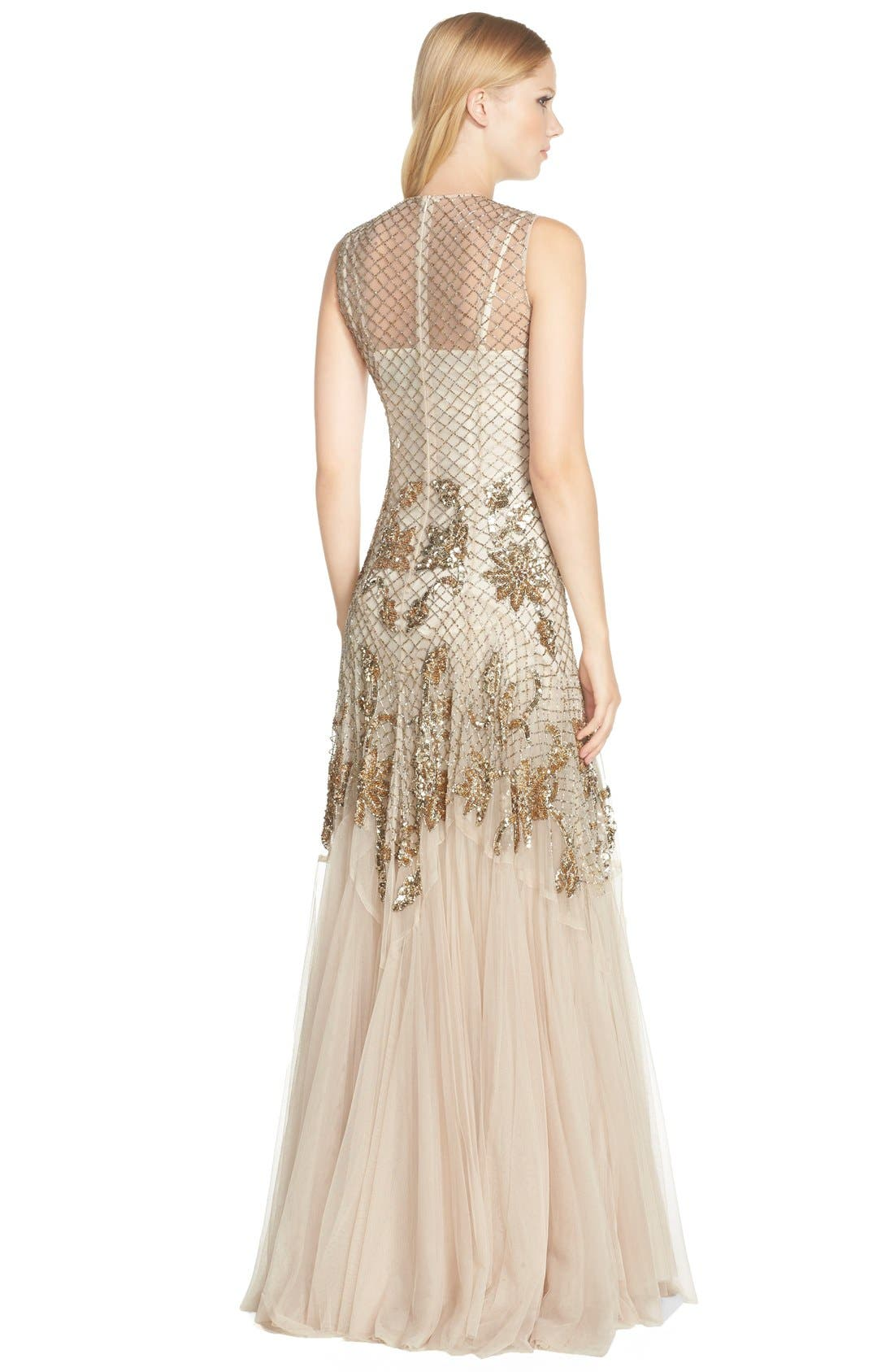 Alternate Image 2  - Needle & Thread Embellished Mesh Gown