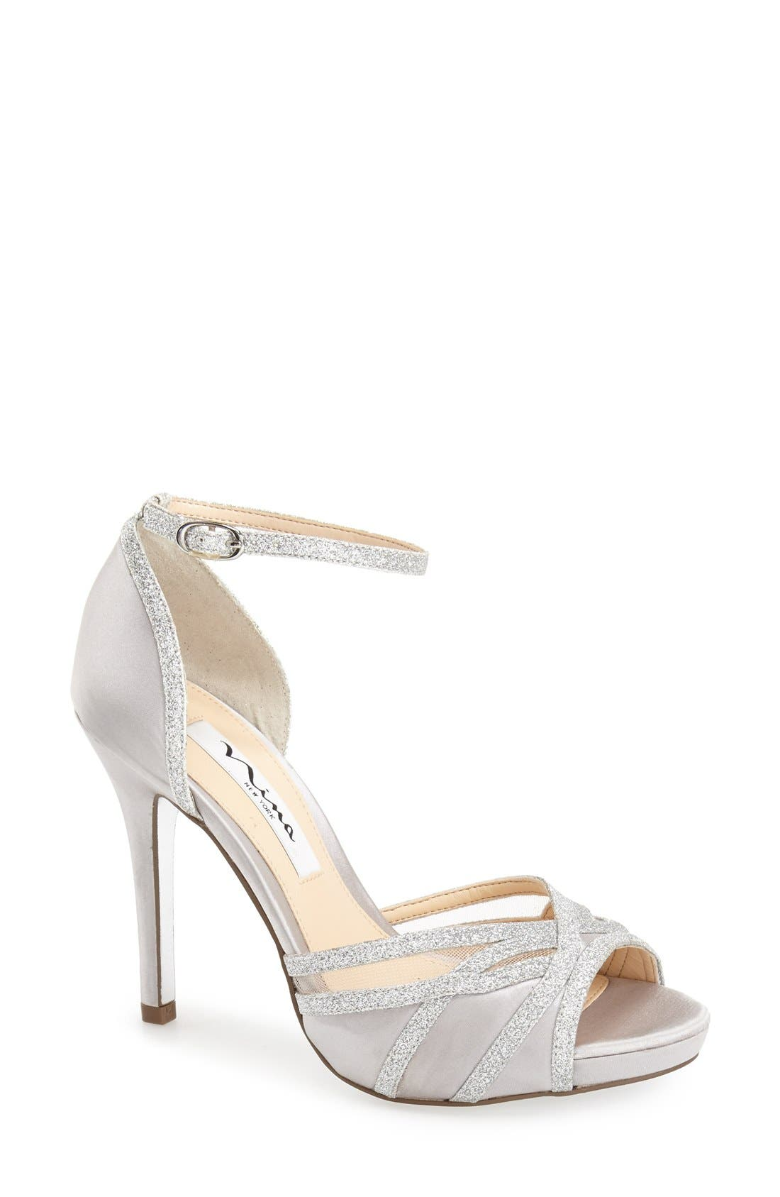 Alternate Image 1 Selected - Nina 'Kerstin' Ankle Strap Sandal (Women)