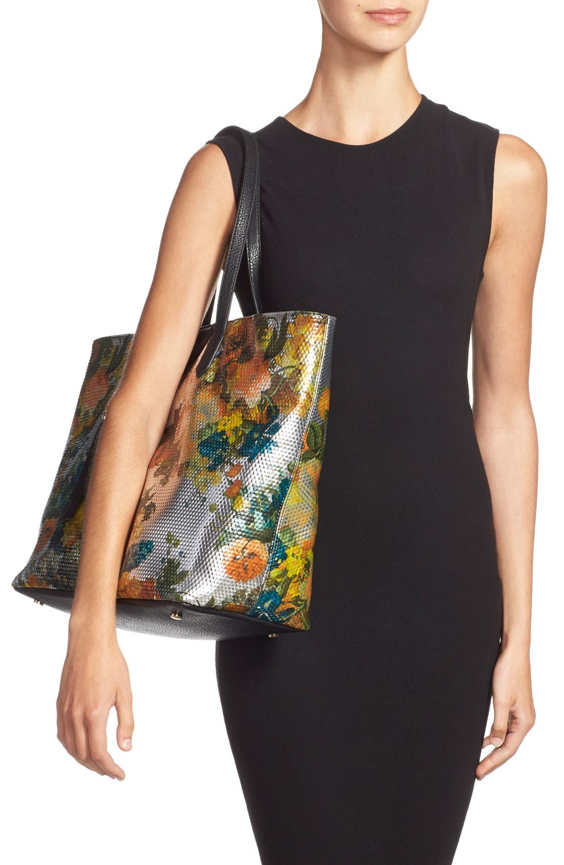 Alternate Image 2  - POVERTY FLATS by rian Floral Print Tote